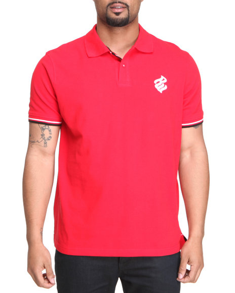 Rocawear Men Red Flame Polo