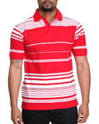 Shirts - Reminisce Striped Polo