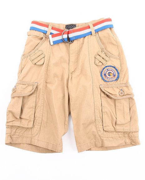 COOGI Boys Khaki Belted Cargo Shorts (8-20)