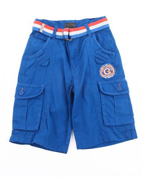 COOGI Boys Blue Belted Cargo Shorts (8-20)