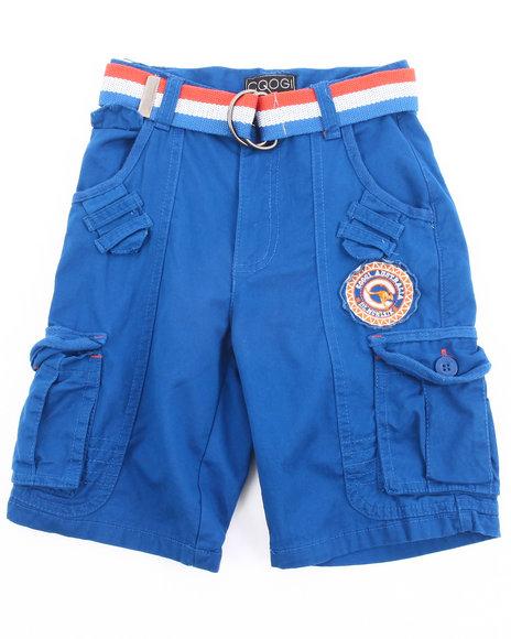 COOGI Boys Blue Belted Cargo Shorts (4-7)