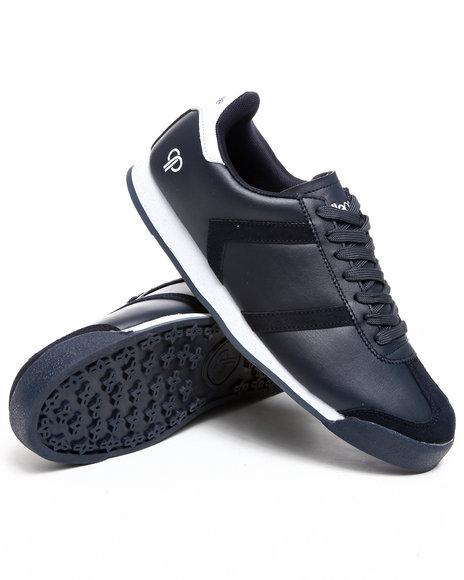 Pelle Pelle Men Navy,White Suede Toe Casual Sneaker
