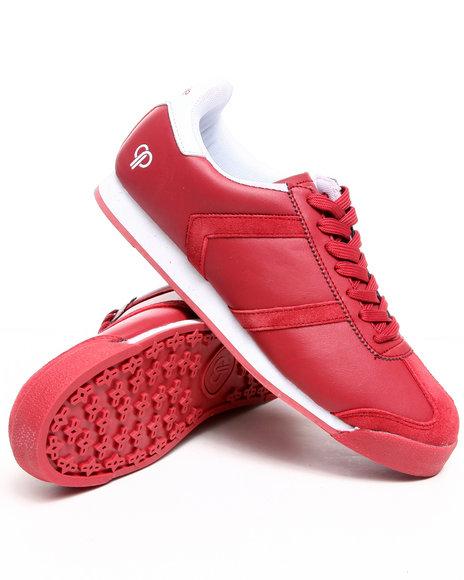 Pelle Pelle Men Red,White Suede Toe Casual Sneaker