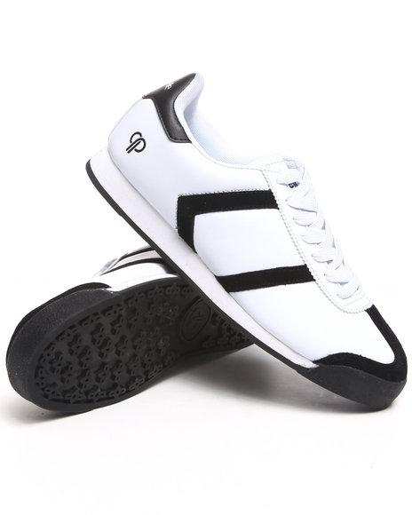 Pelle Pelle Men Black,White Suede Toe Casual Sneaker