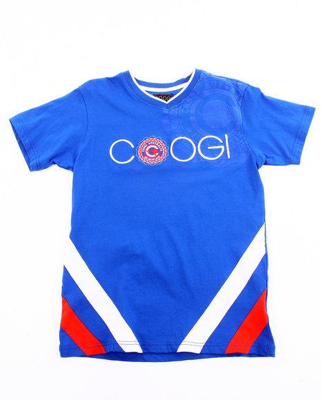 COOGI Boys Blue V-Neck Coogi Tee (8-20)