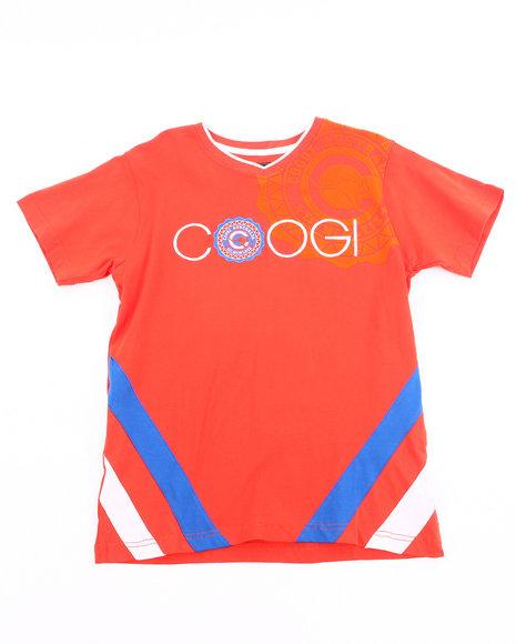 COOGI Boys Orange V-Neck Coogi Tee (8-20)