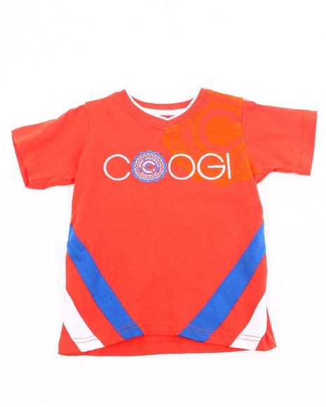 COOGI Boys Orange V-Neck Coogi Tee (4-7)