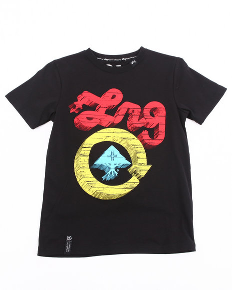 LRG Boys Black Core Collection Five Tee (8-20)