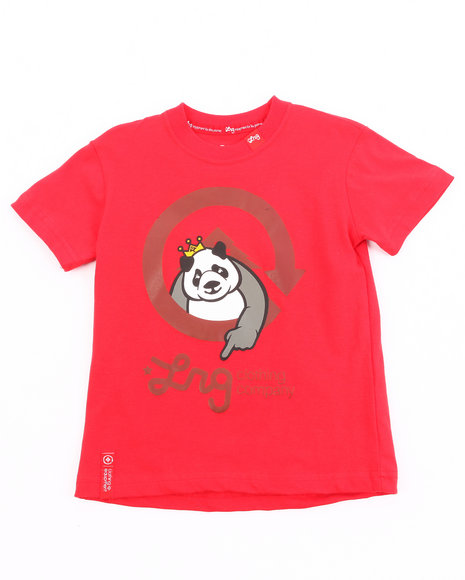 LRG Boys Red The Homeboy Panda Tee (2T-4T)
