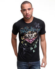 Shirts - Embellished Bling Tee w/ Foil Detail