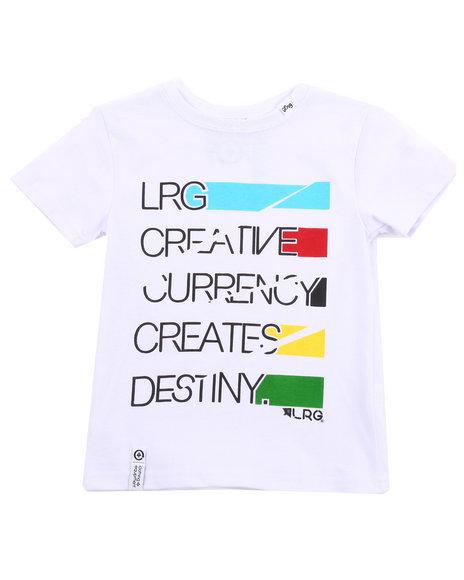 LRG Boys White Creative Currency Tee (4-7)