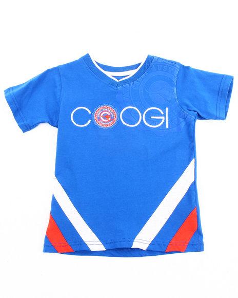 COOGI Boys Blue V-Neck Coogi Tee (4-7)