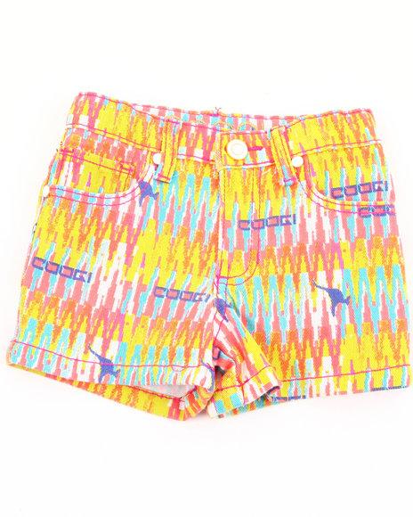 COOGI Girls Multi Aztec Printed Shorts (4-6X)