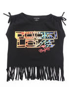 Girls - BOAT NECK FRINGE TEE (7-16)