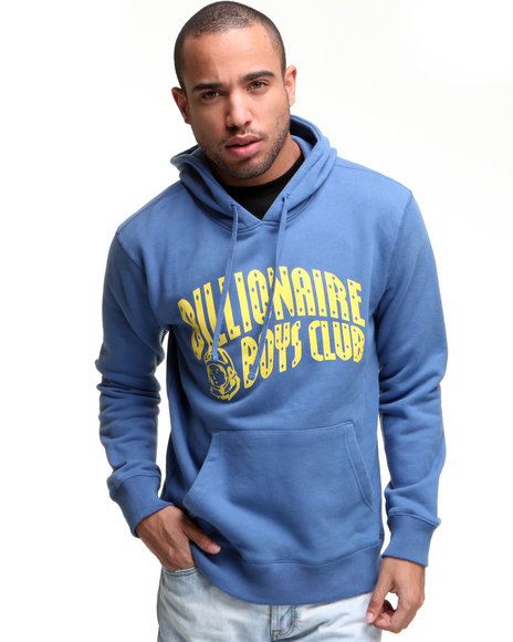 Ur-ID 136657 Billionaire Boys Club Men Arch Logo Pullover Hoodie Blue Medium by Billionaire Boys Club