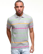 -FEATURES- - S/S Neon Stripe Polo
