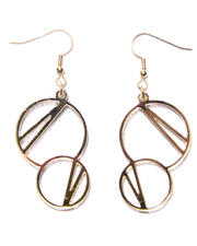 Women - Bubbles Gold-Plated Earwire Earrings