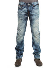 True Religion - Ricky Straight Leg Denim w/ Flap Back Pckt in Antelope Wash