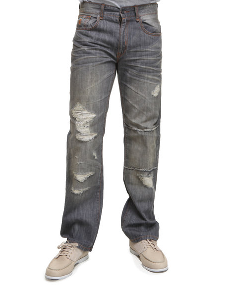 Rocawear Men Grey Meant Classic Fit Jeans