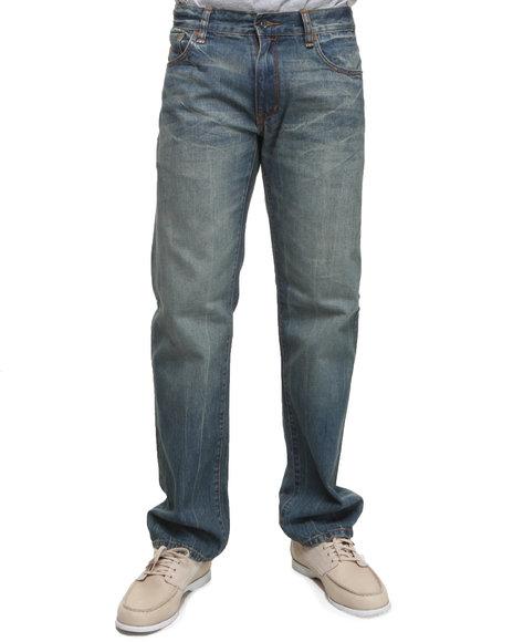 Rocawear Men Medium Wash Vaquero Straight Fit Jeans