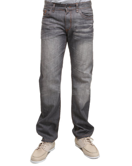 Rocawear - Men Grey At Will Straight Fit Jeans