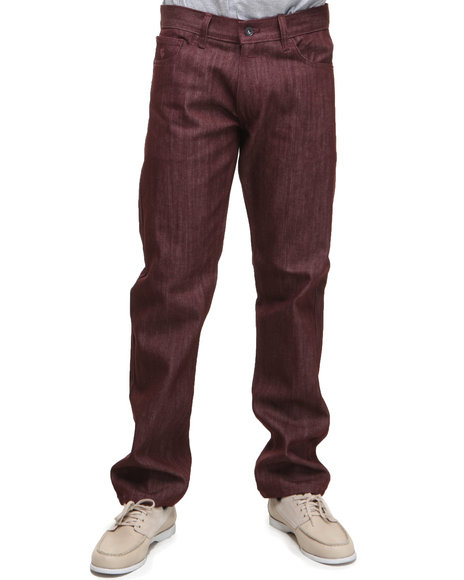 Rocawear Men Maroon Bleek Color Straight Fit Jeans