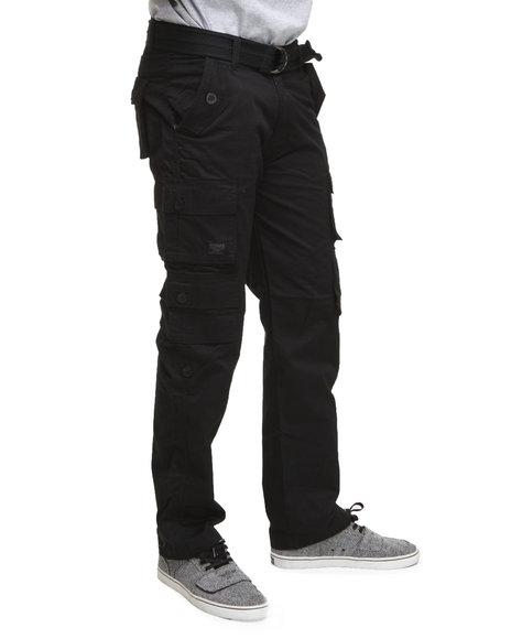 Akademiks Men Black Beach Comber Lt. Twill Cargo Pants