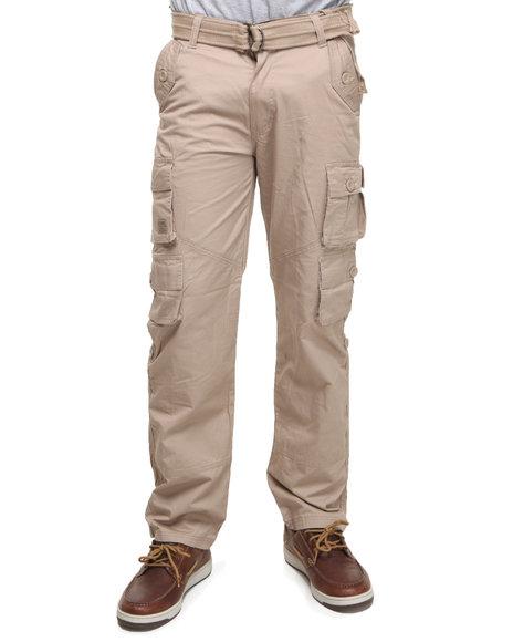 Akademiks Men Khaki Beach Comber Lt. Twill Cargo Pants