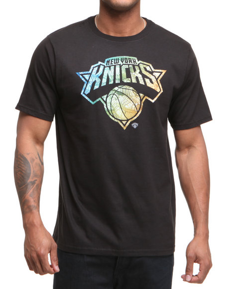 Adidas Men Black New York Knicks Shoe Pile 1 Tee