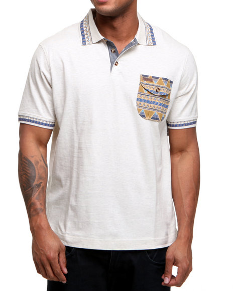 Rocawear Men Diamond Tribe Polo White Xx-Large