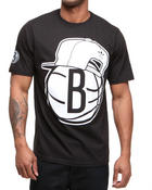 Men - Brooklyn Nets Snap back team logo tee