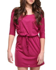 Fashion Lab - Mary 3/4 Sleeve Blouse Dress w/waist tie