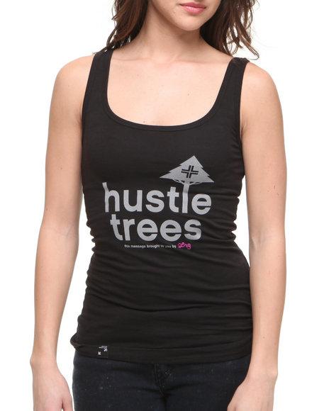 LRG Women Black Hustle Trees Tank Top