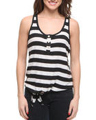 Basic Essentials - Tully Stripe Tank Top w/tie