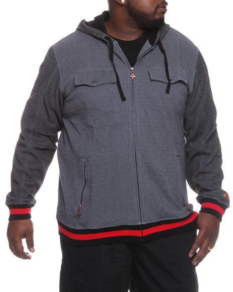 LRG Men Black Family Operation Zip Hoodie (B&T)
