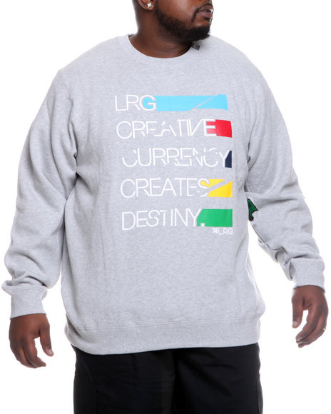 LRG Men Grey Creative Currency Sweatshirt (B&T)