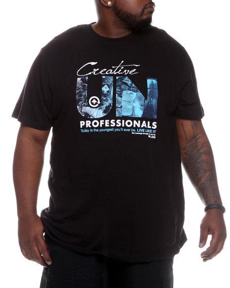 LRG Men Black Live Unprofessional S/S Tee (B&T)