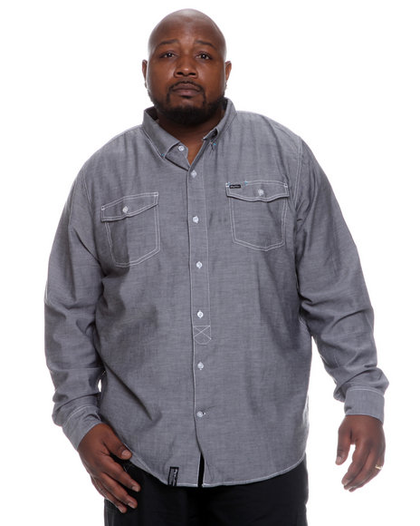 LRG Men Black Lax To The Max Long Sleeve Woven (B&T)