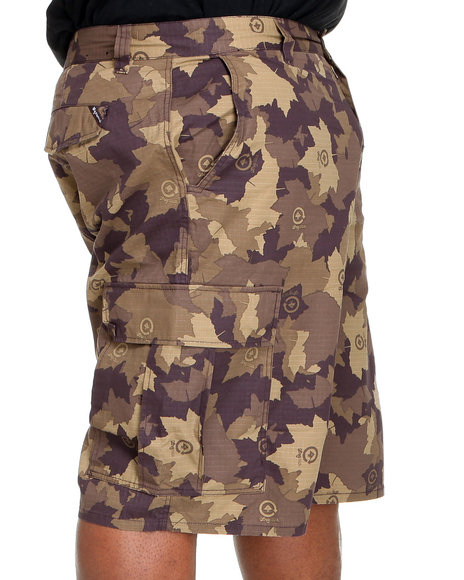LRG Men Brown,Camo Core Collection Classic Cargo Shorts (B&T)