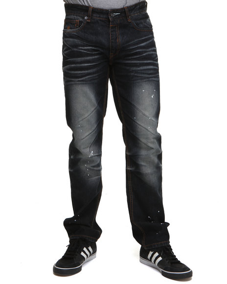 Rocawear Men Dark Wash Rw99 Straight Fit Jeans