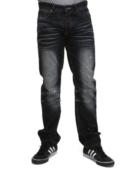Rocawear Men Dark Wash Rw99 Straight Fit Jeans