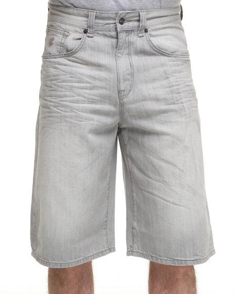 Rocawear Men Grey New Grey Denim Shorts