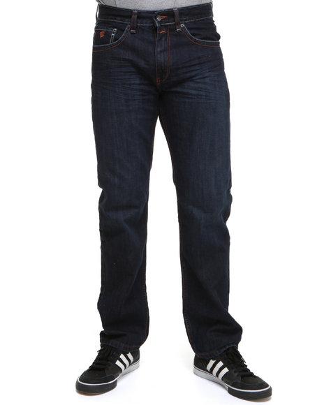 Rocawear Men Dark Indigo Broadway Classic Fit Jeans