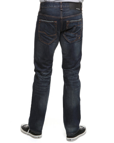 Rocawear Men Dark Wash Benton Straight Fit Jeans