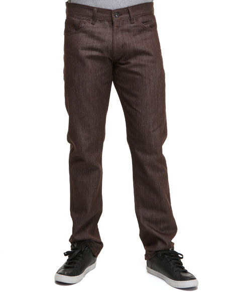 Rocawear Men Brown Bleek Color Straight Fit Jeans