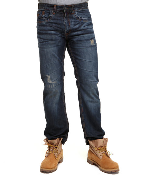 Rocawear Men Dark Wash Times Classic Fit Jeans