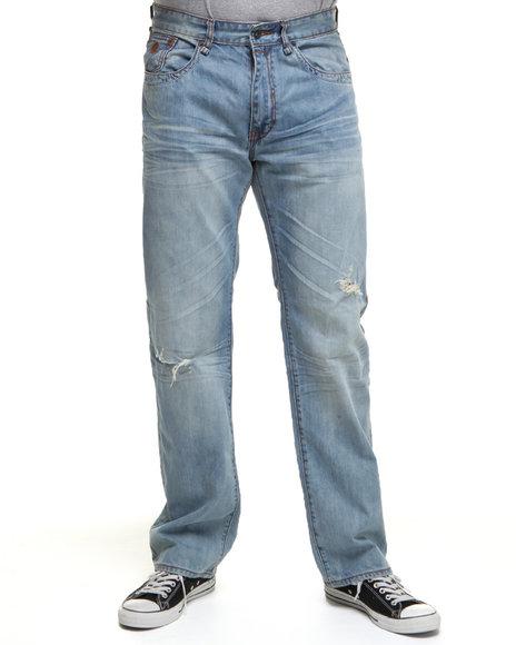 Rocawear Men Light Wash Shellbark Straight Fit Jeans