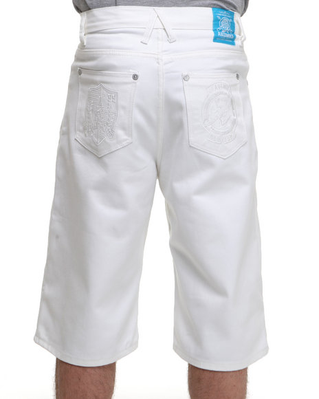 Akademiks - Men White Citizen Shorts