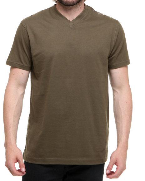 Rocawear Men Olive Basic V-Neck S/S Tee