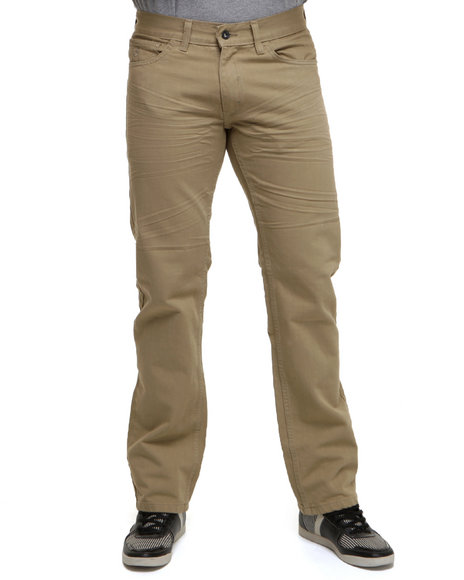 Rocawear Men Light Brown Fifth Element Straight Fit Jeans